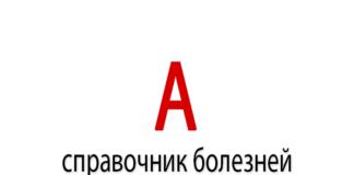 Справочник болезней на букву - А