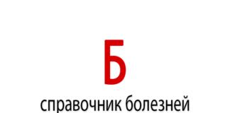 Справочник болезней на букву - Б