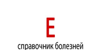 Справочник болезней на букву - Е