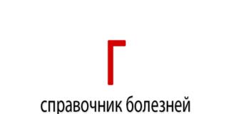 Справочник болезней на букву - Г