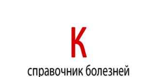 Справочник болезней на букву - К