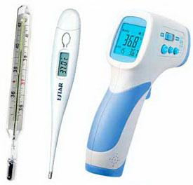 Термометры: ртутный и цифровой