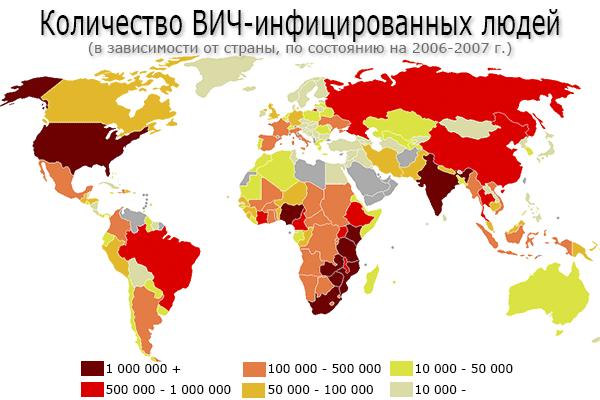 ВИЧ – распространение