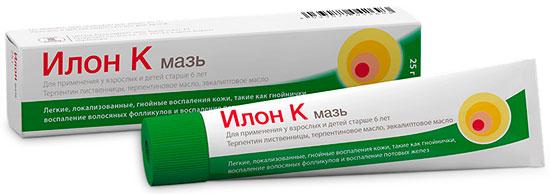 Мазь Илон против фурункулов, карбункулов и других гнойничковых заболеваний кожи