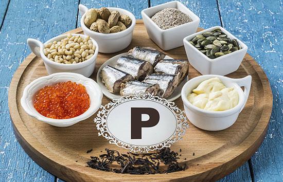 Источники фосфора в продуктах