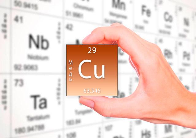 Медь (Cu) – роль в организме, применение, суточная потребность, источники